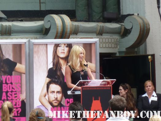 jennifer aniston's hand and footprint ceremony at grauman's chinese theatre Chelsea handler speaking on jennifer's aniston's behalf Chelsea lately