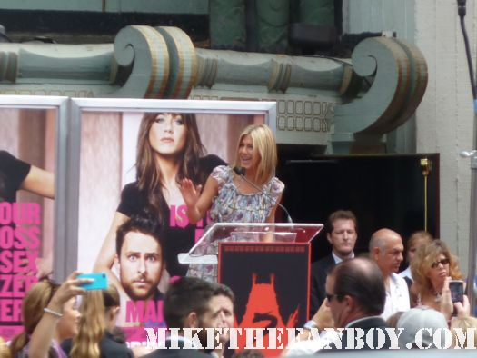 jennifer aniston's hand and footprint ceremony at grauman's chinese theatre jennifer aniston giving her speech at the hand foot ceremony promo rare friends