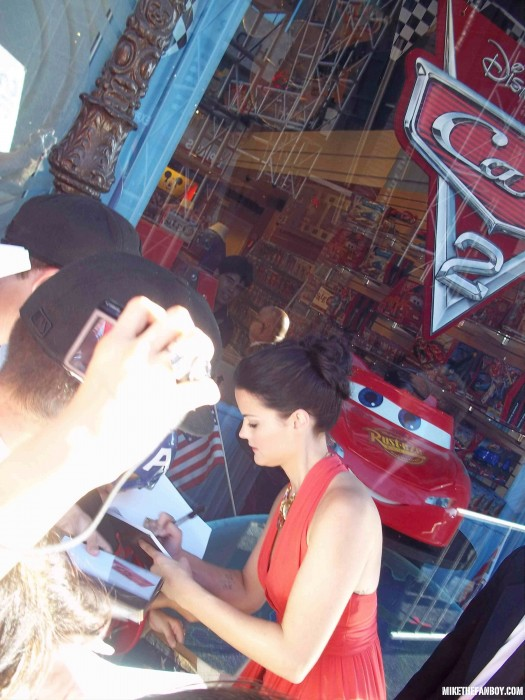 The world movie premiere of Captain America the First Avenger at the el capitan theatre in hollywood jaimie alexander signing autographs for fans hot sexy photo shoot rare