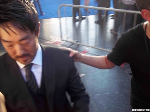 The world movie premiere of Captain America the First Avenger at the el capitan theatre in hollywood Ken Choi signing autographs for fans hot sexy photo shoot rare