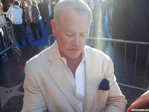 Picture The world movie premiere of Captain America the First Avenger at the el capitan theatre in hollywood neil mcdonough signing autographs for fans hot sexy photo shoot rare