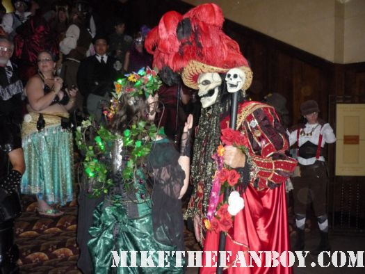 Red Death at the 14th Annual Labyrinth of Jareth Masquerade the novel strumpet dressed up in dress and corset