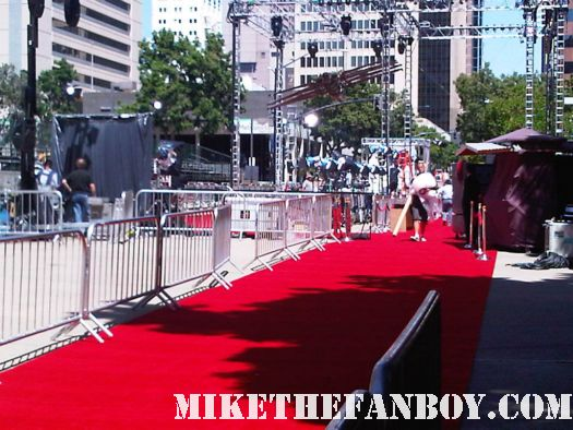 red carpet at the cowboys and aliens world movie premiere san diego ca comic con 2011