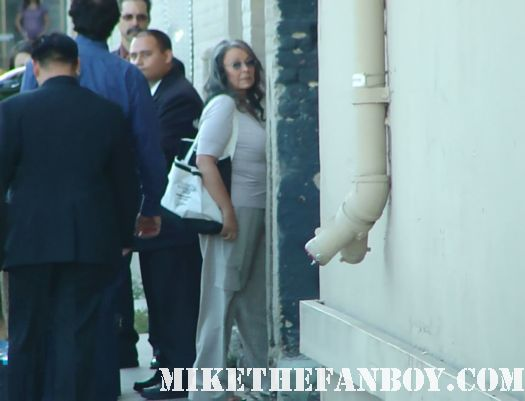 roseanne barr arrives to a talk show taping to promote roseanne's nuts signed autograph promo rare