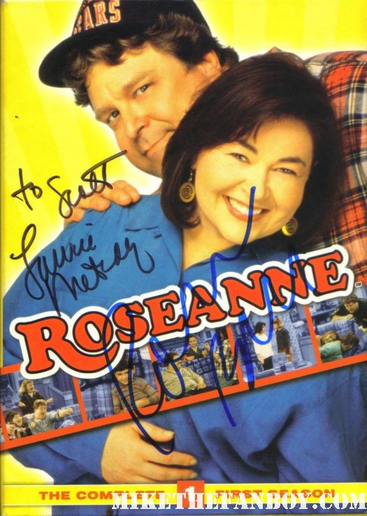 roseanne barr and laurie metcalf signed autograph season 1 dvd set promo rare hot sexy dvd cover art