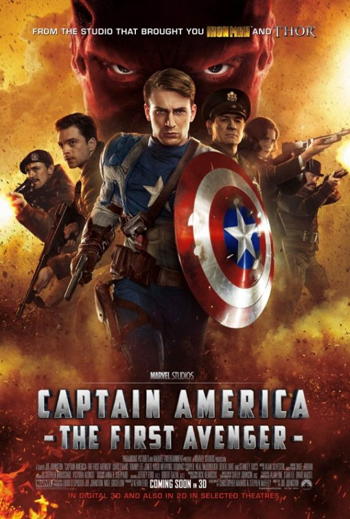 captain_america_the_first_avenger rare promo one sheet movie poster promo version 3 chris evans hot sexy hugo weaving red skull