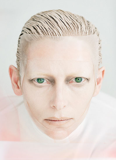 Tilda Swinton is Stunning on the August 2011 cover and photo shoot for W Magazine hot sexy rare promo michael clayton the deep end we need to talk about kevin rare signed autograph promo hot sexy annie lennox