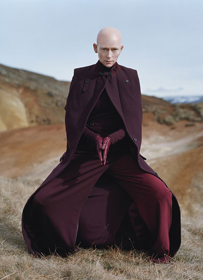 Tilda Swinton is Stunning on the August 2011 cover and photo shoot for W Magazine hot sexy rare promo michael clayton i am love the deep end rare promo hot sexy