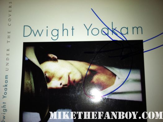 dwight yoakam signed autograph under the covers sheet music vinyl lp rare hot promo hand signed