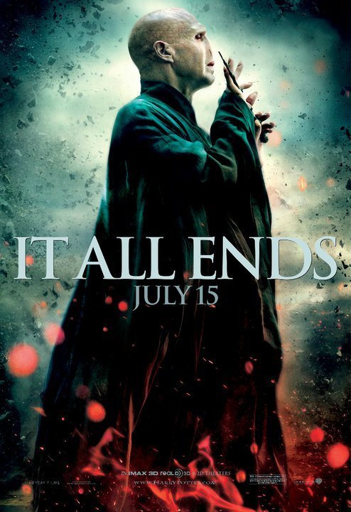 harry_potter_and_the_deathly_hallows_part_two ralph fiennes voldemort fighting final individual character promo mini one sheet promo poster final battle villian hot