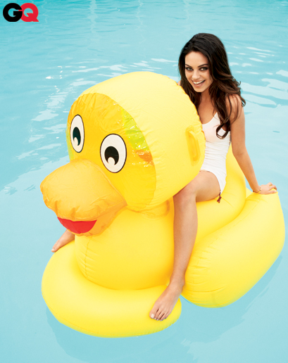 mila kunis in the august 2011 issue of GQ magazine in panties and looking sexy hot photo shoot rare promo friends with benefits hot sexy duck rare panties sex naked