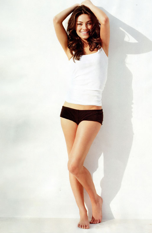 mila kunis in the august 2011 issue of GQ magazine in panties and looking sexy hot photo shoot rare promo friends with benefits
