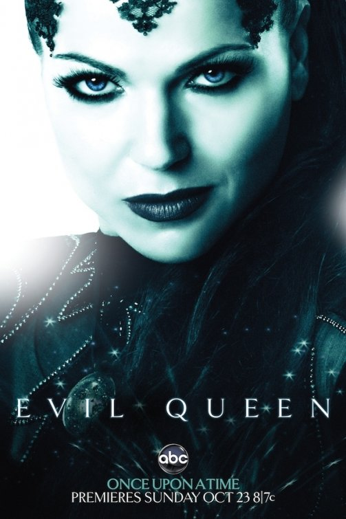 Evil Queen rare once upon a time abc promo poster mini comic con snow white hot sexy teaser poster rare