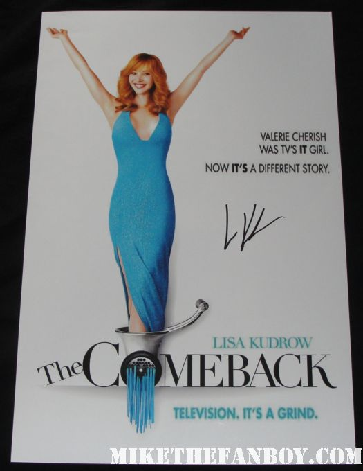 friends cast signed promo mini poster lisa kudrow matt leblanc courteney Cox jennifer aniston david schwimmer mathew perry the comeback rare promo mini poster valerie cherish promo mini poster hot sexy rare hbo short lived series