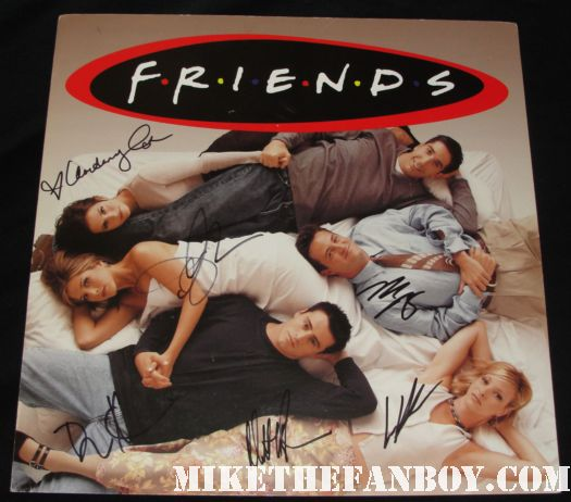 lisa kudrow friends star at a taping of extra at the grove with mario lopez to promote web therapy signed autograph friends phoebe buffay the comeback valerie cherish opposite of sex romy and michele's high school reunion friends cast signed promo mini poster lisa kudrow matt leblanc courteney Cox jennifer aniston david schwimmer mathew perry