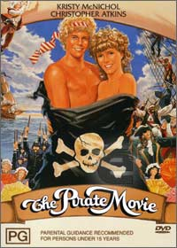 The Pirate Movie rare DVD cover sexy chest Christopher Atkins in a press still for the pirate movie rare promo hot sexy 1980's icon shirtless rare hot photo shoot