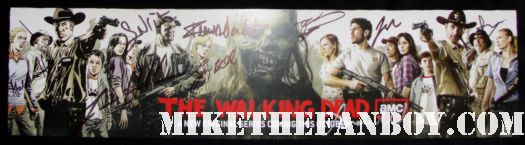 the walking dead cast signed autograph promo san diego comic con 2011 2011 laurie holden