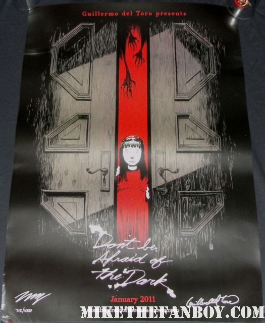 don't be afraid of the dark signed autograph promo one sheet movie poster guillermo del toro