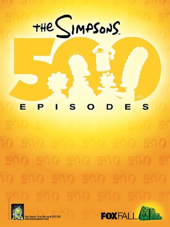 simpsons 500 episodes san diego comic con rare limited edition fox poster 2011 sdcc 2011 rare signed autograph