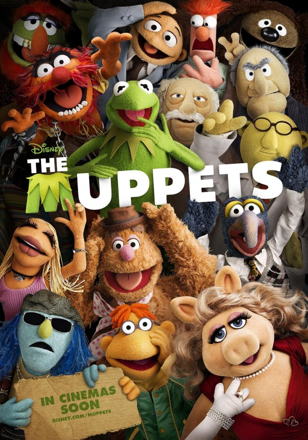 the muppets movie poster one sheet teaser promo international kermit the frog jason segal rare amy adams emily blunt promo 2011