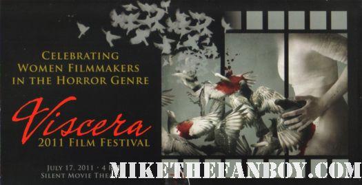 The Viscera Film Festival at the silent movie theatre in los angeles rare promo women horror filmmakers rare program