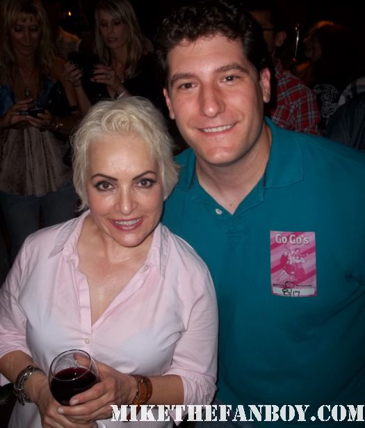 mike the fanboy with Go-go's jane wiedlin at the greek theatre backstage