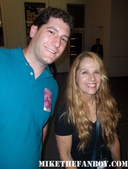 mike the fanboy with Go-go's charlotte caffey at the greek theatre backstage