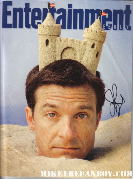 jason bateman signed autograph entertainment weekly magazine cover rare promo sand castle hot rare