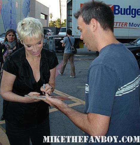 Annie Lennox signing Mike The Fanboys original Bare solo tour promo poster autograph eurythmics rare promo songs of mass destruction
