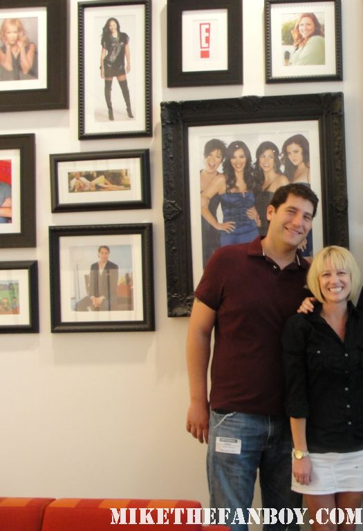 Mike The Fanboy and Lindsay at E! Entertainment studios at a taping of the soup with joel mcHale rare promo