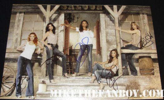 desperate housewives cast signed autograph promo poster teri hatcher vanessa williams marcia cross felicity huffman eva longoria