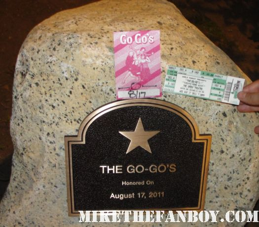 the go-go's plaque at the greek theatre rock walk a the los angeles greek theatre rock walk august 17 2011