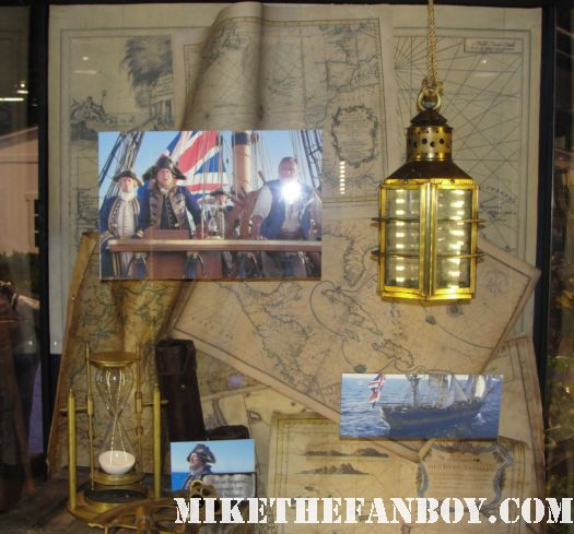 D23 2011 walt disney pirates of the caribbean on stranger tides props and costumes rare johnny depp jack sparrow penelope cruz sword costume compass