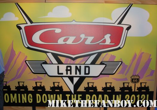 D23 2011 walt disney convention anaheim disney parks and resorts imagineers booth ride carousel of projects cars land 2 promo sign