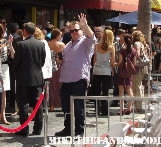 eric stonestreet arrives at modern family star Ed O'Neill walk of fame ceremony star on the hollywood walk of fame signed autograph rare promo married with children