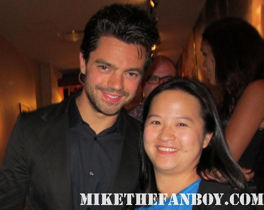 Dominic Cooper (Mamma Mia!, Captain America, upcoming Abraham Lincoln: Vampire Hunter) poses for a fan photo with erica at san diego comic con 2011 sdcc 2011