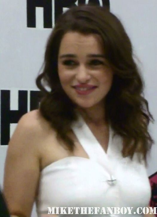 Emilia Clarke (Daenerys Targaryen) at the game of thrones autograph signing at the warner bros booth comic con 2011 sdcc 2011