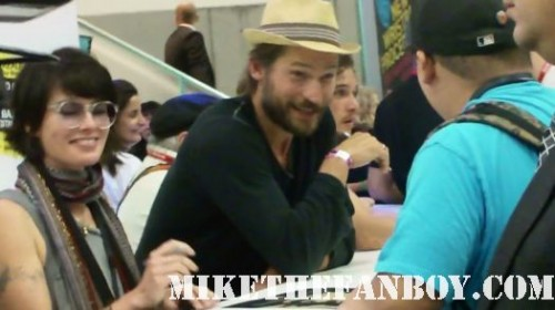 Lena Headey (Cersei Lannister), Nikolaj and Kit at the game of thrones autograph signing at the warner bros booth san diego comic con 2011 sdcc 2011