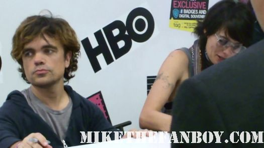 Emmy-nominated Peter Dinklage (Tyrion Lannister) at the game of thrones autograph signing at the warner bros booth san diego comic con sdcc 2011