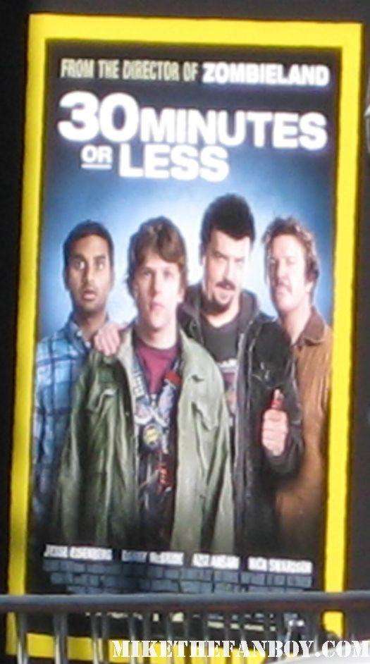 the 30 minutes or less world movie premiere red carpet aziz anzari Jesse Eisenberg ben stiller rare