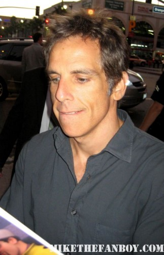 Ben Stiller signs autographs for fans at the 30 minutes or less world movie premiere rare promo dodgeball night at the musuem meet the parents rare along came polly