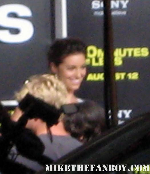 Bianca Kajlich on the red carpet at the 30 minutes or less world movie premiere rare promo
