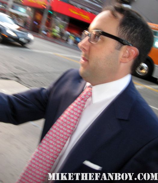P.J. Byrne signing autographs for fans at the world movie premiere of Final destination 5