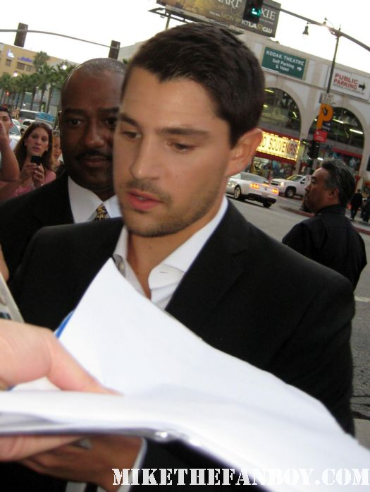 Miles Fisher signing autographs for fans at the world movie premiere of Final destination 5 sexy hot rare photo shoot shirtless
