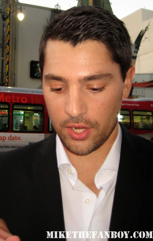 Miles Fisher signing autographs for fans at the world movie premiere of Final destination 5 sexy hot photo shoot rare