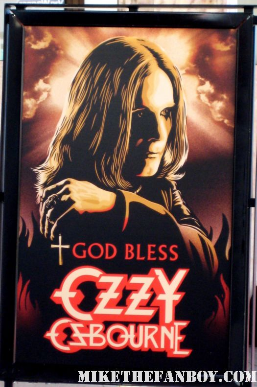 god bless ozzy osbourne rare promo poster at the red carpet at God Bless Ozzy Osbourne rare sharon osbourne kelly osborne jack osbourne