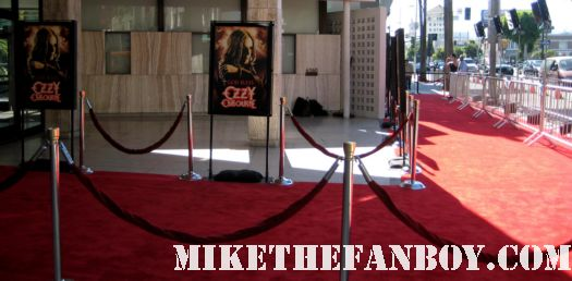 the red carpet at God Bless Ozzy Osbourne rare sharon osbourne kelly osborne jack osbourne