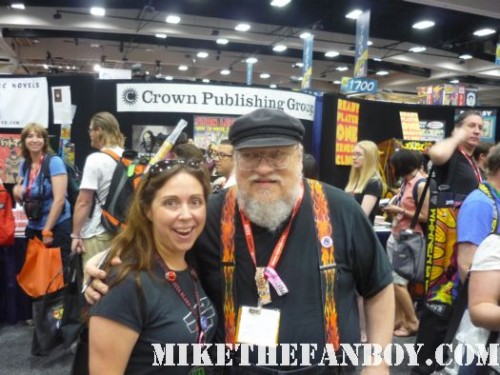 the novel strumpet from Mike The Fanboy with author george R R Martin from game of thrones at san diego comic con 2011 sdcc 2011 rare book lovers promo hot rare promo free books