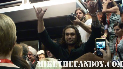 Conan the Barbarian is also getting a re-boot with Jason Momoa (Stargate: Atlantis, Game of Thrones) at the lionsgate booth signing autographs for fans