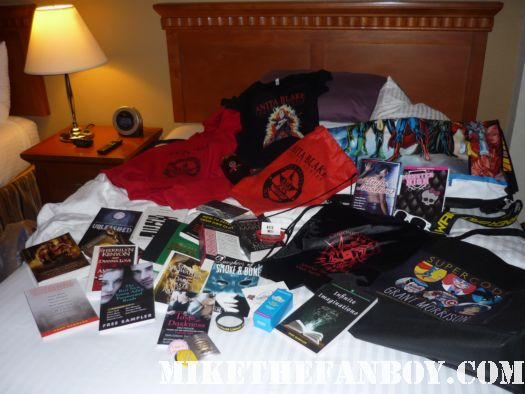 swag from san diego comic con 2011 book literary lovers rare sdcc 2011  people camping outside trying to get into the convention floor at preview night at san diego comic con 2011 sdcc 2011